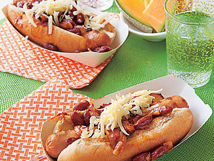 Healthy Chili-Cheese Dogs