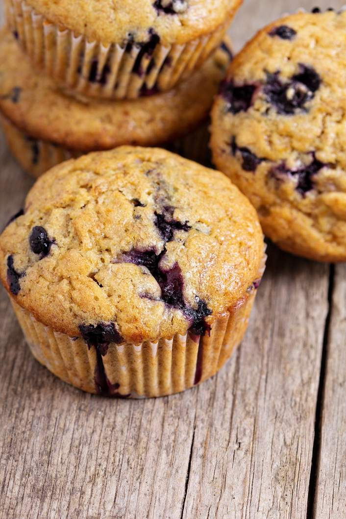 Jumbo Blueberry Oat Muffins are packed with healthy carbs and protein that will keep you full all morning.