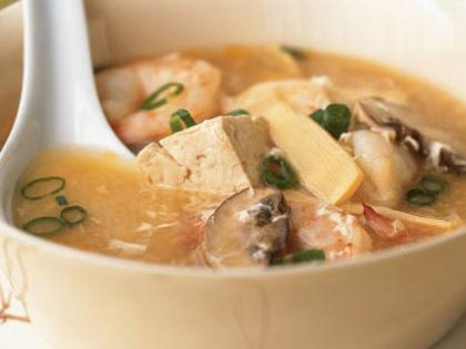 Hot and Sour Soup with Shrimp