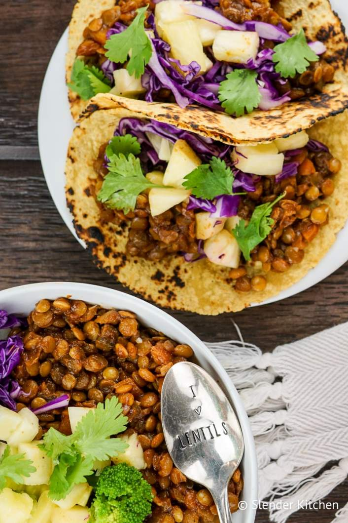 Barbecue Lentil grain bowls.