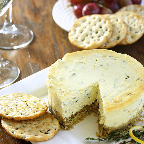 Lemon Herb Savory Cheesecake Appetizer