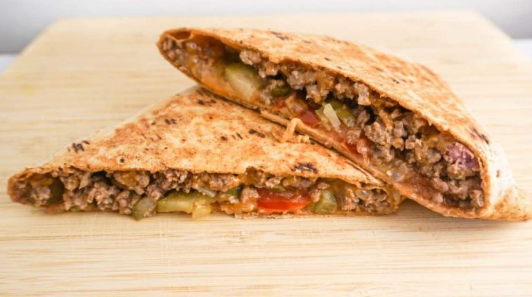 Grilled Cheeseburger Wrap - Slender Kitchen