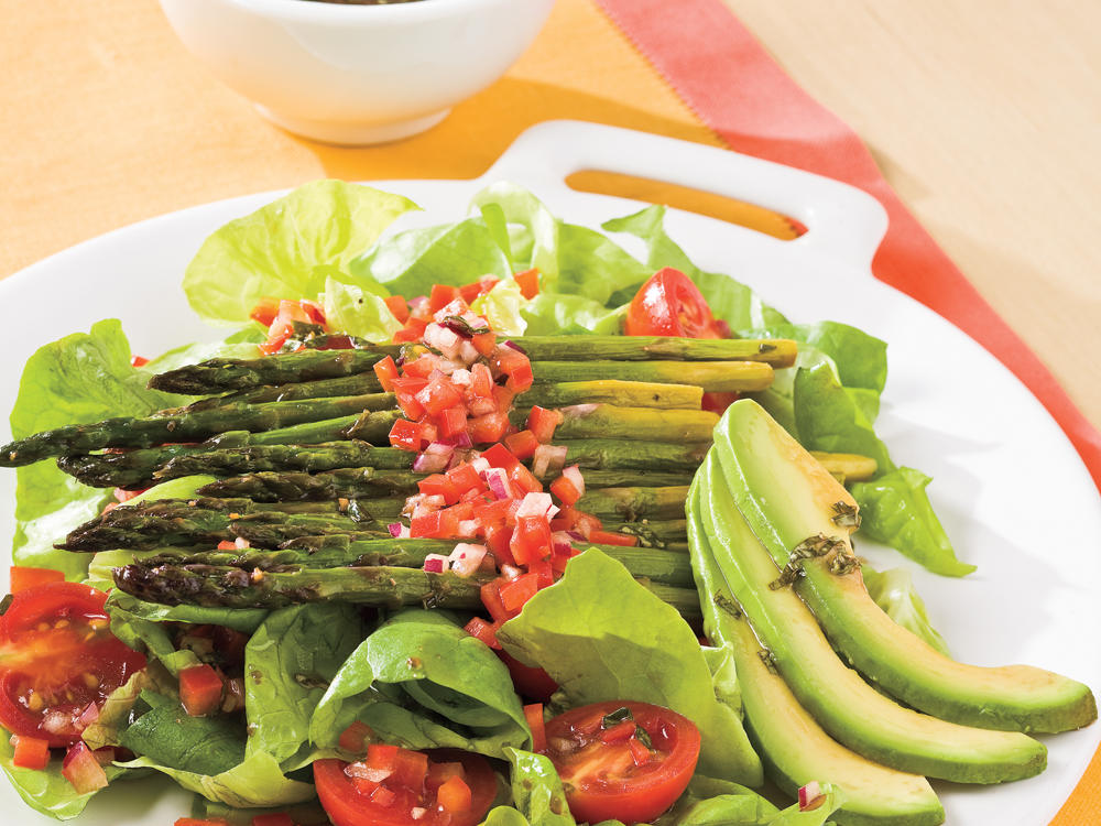 Roasted Asparagus Salad