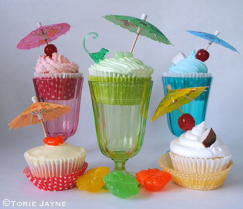 Gluten free cocktail cupcakes