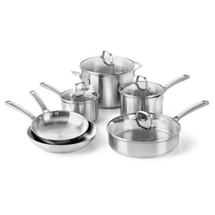 Calphalon Classic Stainless Steel Cookware Set, 10...
