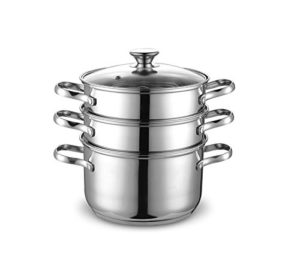 Cook N Home 4 Quart/8-Inch Double Boiler and Steam…