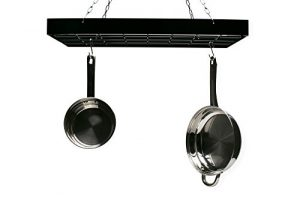 Fox Run 7801 Rectangle Pot Rack with Chains and Ho…