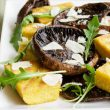 Grilled Balsamic Mushrooms with Polenta