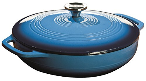 Lodge EC3CC33 Enameled Cast Iron Covered Casserole...