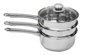 PureLife Double Boiler & Steamer – Made of Stainle…