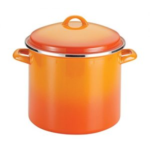 Rachael Ray Enamel on Steel 12-Quart Covered Stock…