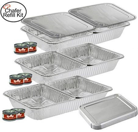 TigerChef TC-20519 Chafer Pans Set, Includes 3 Ful...