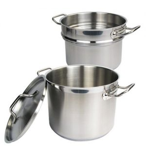Winware Stainless 8 Quart Double Boiler  with Cove…