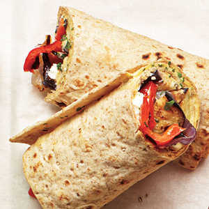 How to Make Grilled Veggie and Hummus Wraps