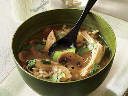Chicken and Rice Soup with Lemon and Ginger