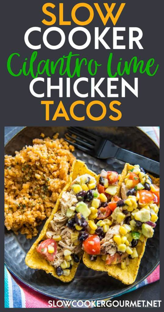 There are so many ways to make Slow Cooker Chicken Tacos, but I think you just might like these best! So easy and full of flavor they get rave reviews! Slow Cooker Cilantro Lime Chicken Tacos will soon be your Taco Tuesday favorite!