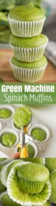 Green Machine Spinach Muffins (Egg Free)