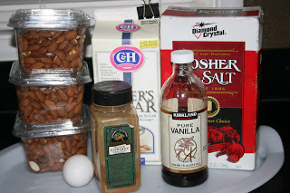 these are the ingredients you need to make sugared almonds in the crockpot slow cooker