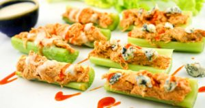 Buffalo Chicken Celery Bites – Slender Kitchen