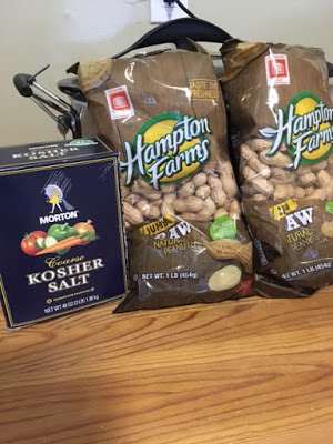 These are the ingredients needed to make Boiled Peanuts at home, in the crockpot slow cooker.