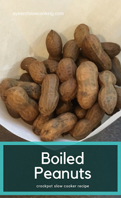 Boiled peanuts are a popular snack in the southern United States, as well as in India, China, and West Africa. You can make them easily at home in the CrockPot Slow Cooker by following this recipe.