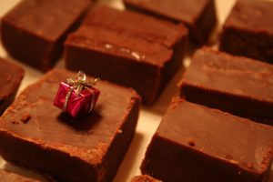 Cranberry Orange White Chocolate Fudge