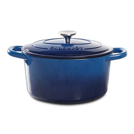 Crock Pot Artisan Enameled Cast Iron 7-Quart Round...