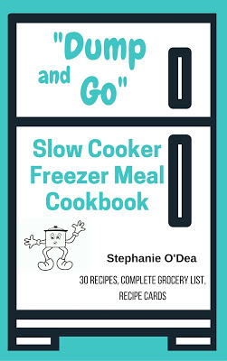 Freezer meals are wonderful! Here is a collection of tried and true crockpot slow cooker freezer meals with a corresponding grocery list and already-filed out recipe cards. Come home to a fully cooked meal at the end of a long work day!