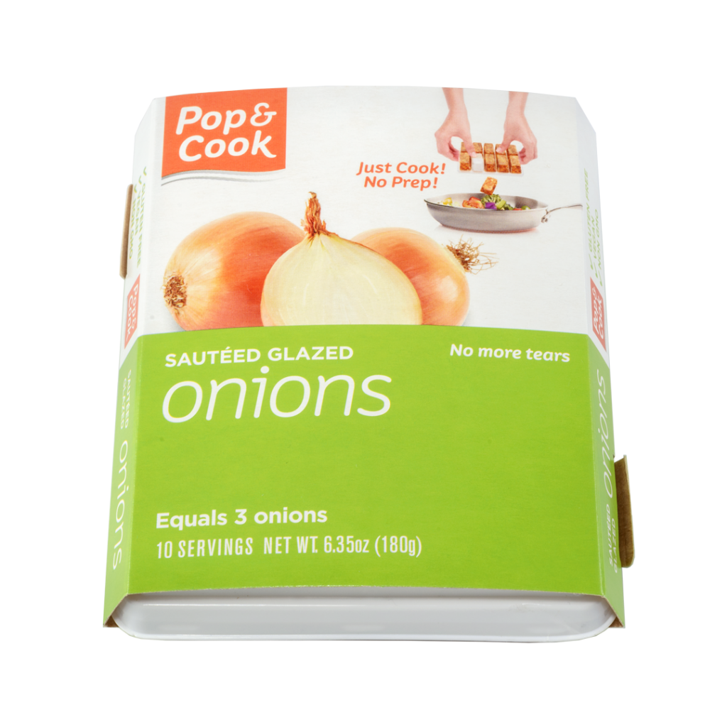 pop and cook sauteed glazed onions