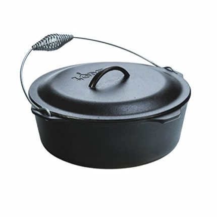 Lodge L12DO3 Cast Iron Dutch Oven with Iron Cover,...