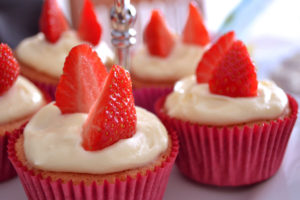 Strawberries and Cream Cupcakes – Your Cup of Cake