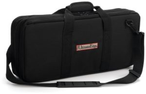 The Ultimate Edge 2001-EVO 18-Piece Knife Case with Full Accessory Compartment, Black