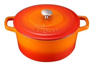 Unicook Enameled Cast Iron Dutch Oven 5 Quart Roun…