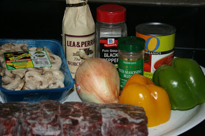 these are the ingredients needed to make pepper corn steak in the crockpot slow cooker