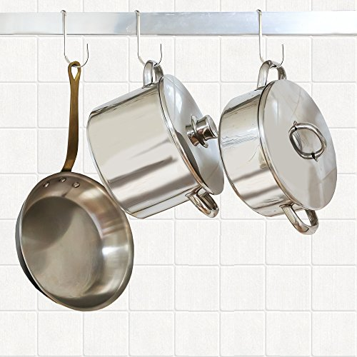 Pro Chef Kitchen Tools Stainless Steel Pot Rack Hanging ...