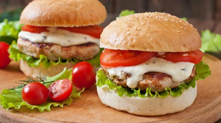 Healthy Ranch Turkey Burgers - Slender Kitchen
