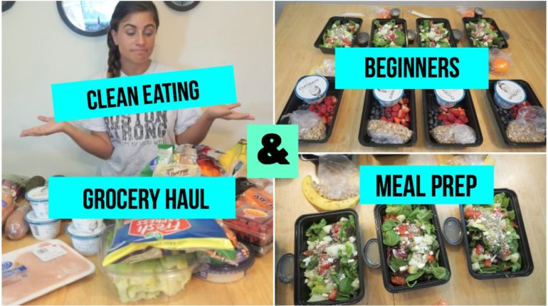 Clean Eating Grocery Haul & Meal Prepping for Begi...