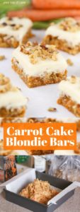 Carrot Cake Blondie Bars with Cream Cheese Frostin…
