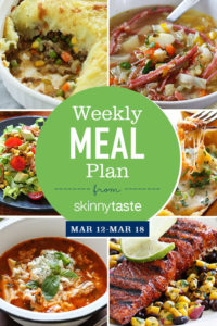 Skinnytaste Meal Plan (March 12-March 18)