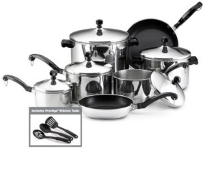 Farberware Classic Stainless Steel 15-Piece Cookwa…