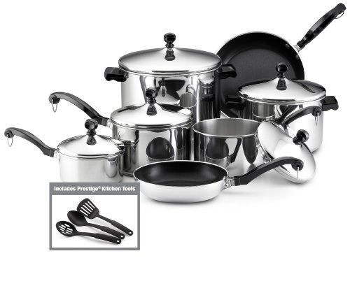 Farberware Classic Stainless Steel 15-Piece Cookwa...