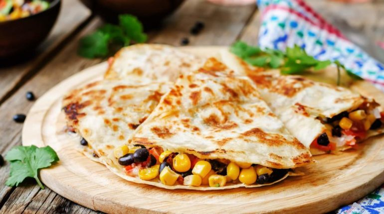 Black Bean and Corn Quesadillas - Freezer Friendly