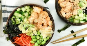 Spicy Shrimp Sushi Bowls – Slender Kitchen