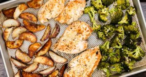 Roasted Chicken and Potatoes with Broccoli