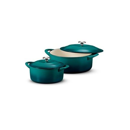 Tramontina Set of two Dutch ovens, 7 qt. and 4 qt. color: Teal