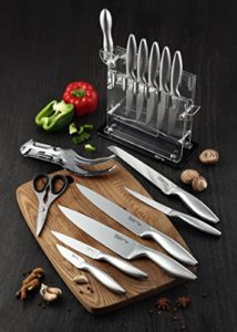 Knife Set, Kitchen Chef Knives – Stone boomer 14 Piece Knife Block Set, Stainless Steel Knife Set, Chef Knife Set, Knives Set, Scissors, Sharpener & A…
