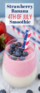 Strawberry Banana 4th of July Smoothie