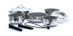 Camco 43926 Ceramic 10 Piece Nesting Cookware Set