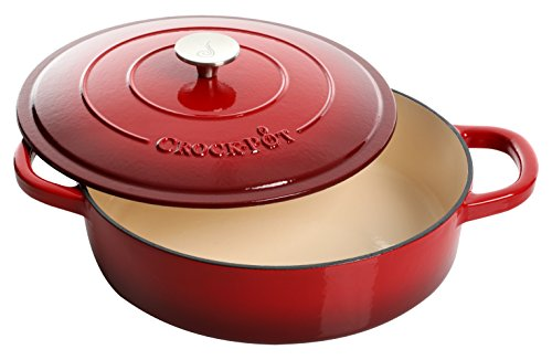 Crock Pot Artisan Enameled Cast Iron 5-Quart Brais...