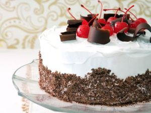 Black Forest Pudding Cake Oven Toaster Recipe